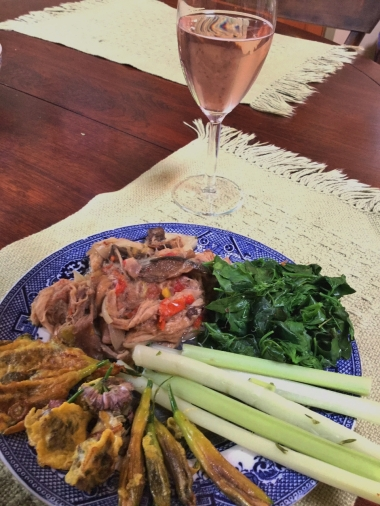 6. Our wild dinner with Rhubarb wine (960x1280)